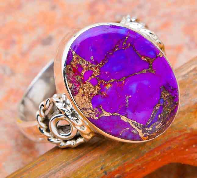 Purple Turquoise Copper 925 Silver